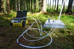 Maaperäpäästöjen mittaus kannettavalla kaasuanalysaattorilla